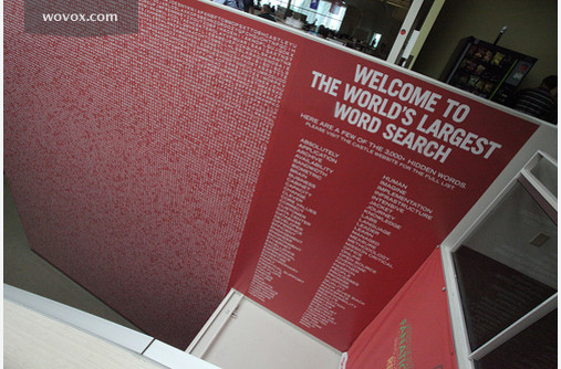 The world's largest word search