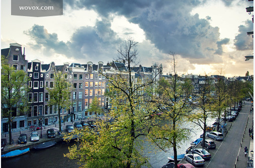 View from an office window to Amsterdam's most beatiful spot