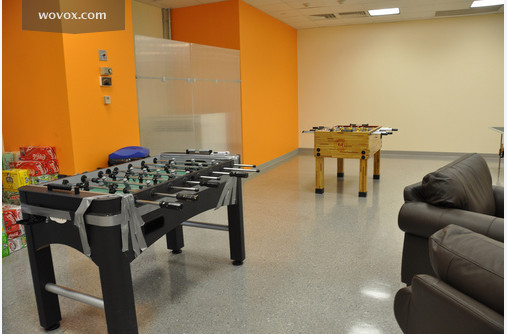 Foosball table at the Breakroom