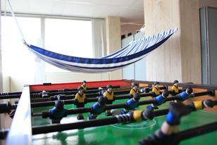 Foosball & hammock