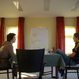 Brainstorming in a meditation room...